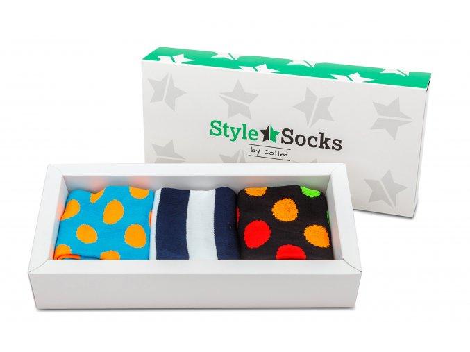 barevné ponožky style socks dárková krabička