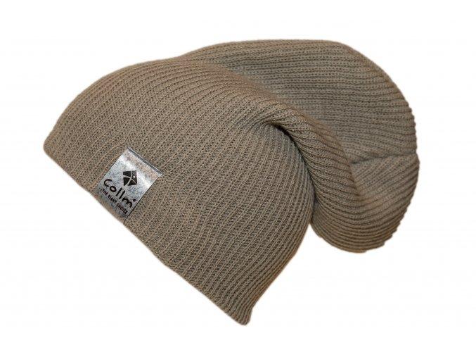 pletená čepice šedá