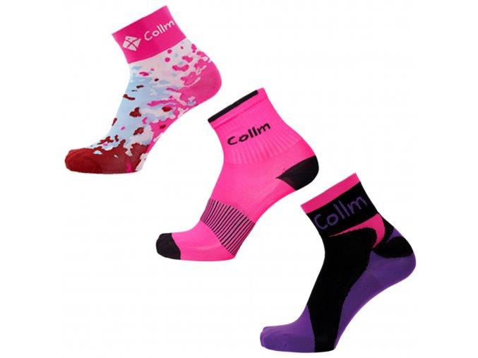 dámské sportovní ponožky růžové