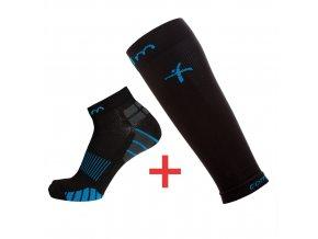 kompresni ponozky cerne navleky