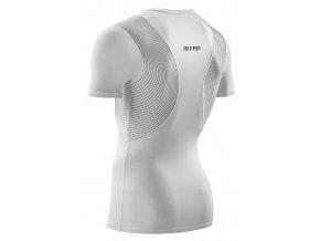 Pánské tričko CEP WINGTECH s krátkým rukávem bílé (Velikost S)