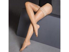 Podpůrné stehenní punčochy s krajkou MAXIS NEW RELAX 70 DEN černé (Barva Černá, Velikost S výška do 153-158cm, obvod stehna do 45-51cm)