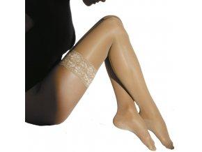 Podpůrné stehenní punčochy s krajkou MAXIS RELAX 70 DEN (Velikost L výška do 164-170cm, obvod stehna do 58cm)