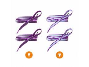 Reflexní tkaničky do bot fialové
