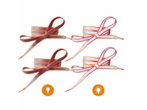 Reflexní tkaničky do bot oranžové