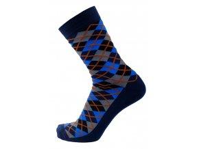 modre karovane ponozky collm