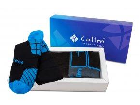 darkové balení lyžařské ponožky a kompresní podkolenky