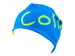 modrá sportovní čepice na běh