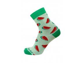 barevné ponožky s melounem