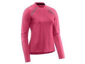 Dámské běžecké tričko CEP s dlouhým rukávem růžové