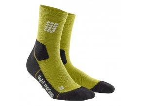 Kompresní outdoorové ponožky ULTRALIGHT MERINO fresh grass