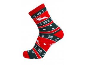 vánoční ponožky s jelenem