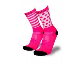 dámské růžové ponožky na běh