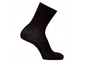 Bambusové ponožky černé- balení 3páry (Velikost 24 - 25 cm (37-39))