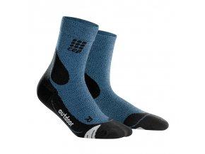 CEP kompresní ponožky MERINO hnědé (Velikost Velikost V. - Obvod přes kotník 26,5 - 29 cm, Provedení Pánské)