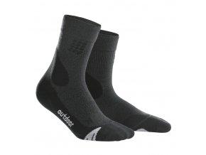 CEP kompresní ponožky MERINO šedé (Velikost Velikost II. - Obvod přes kotník 18 - 20 cm, Provedení Dámské)