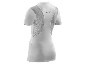 Dámské tričko CEP WINGTECH s krátkým rukávem bílé (Velikost S)