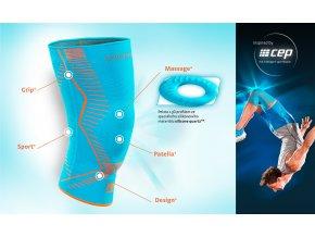 Genumedi E+motion - sportovní kolenní bandáž (Velikost II.)