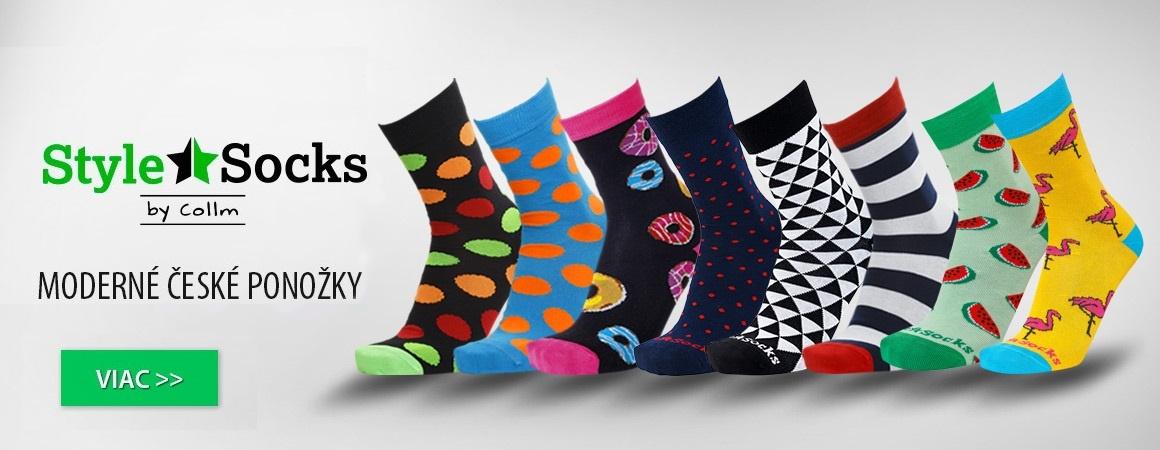 Štýlové farebné ponožky Style-socks