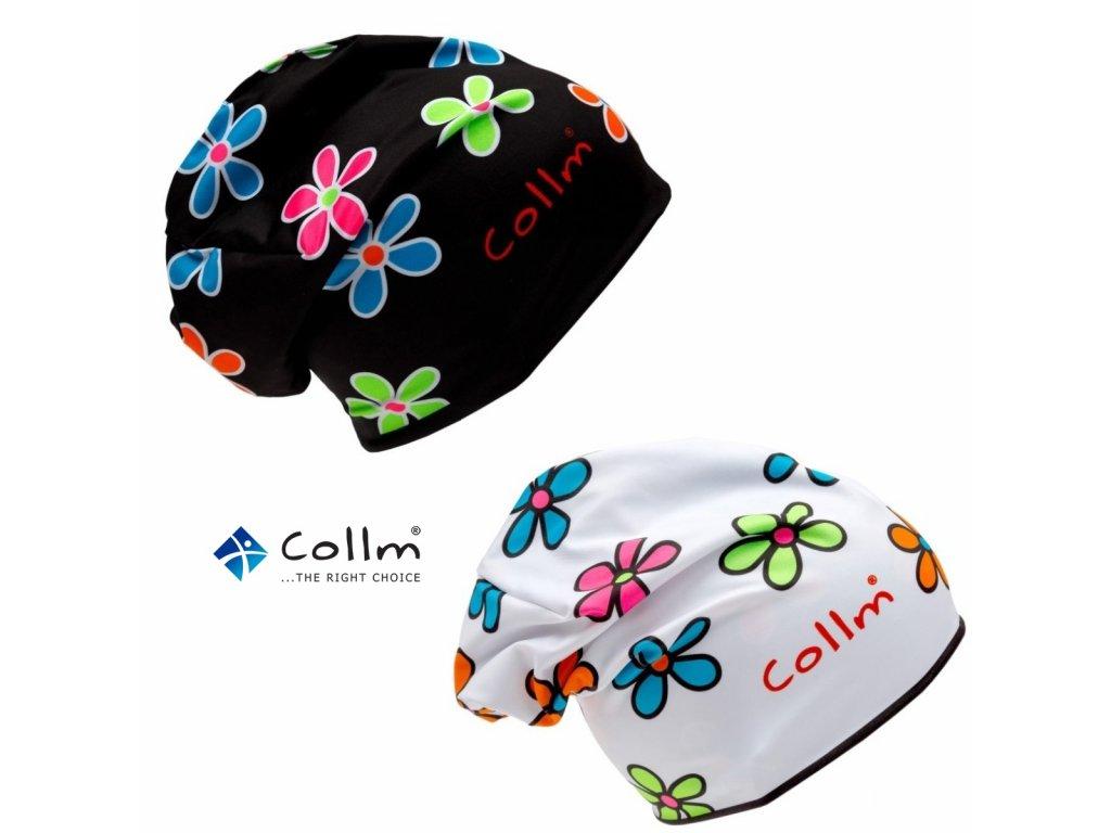Športová obojstranná čiapka COLLM kvety