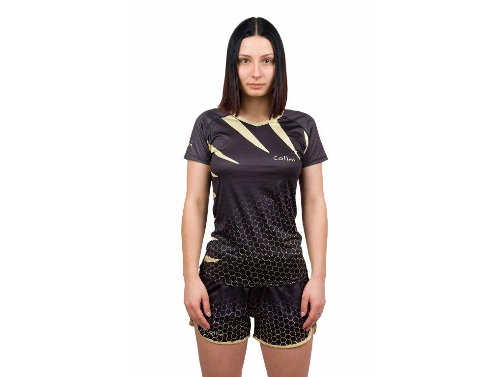 damske sportovni tricko black gold