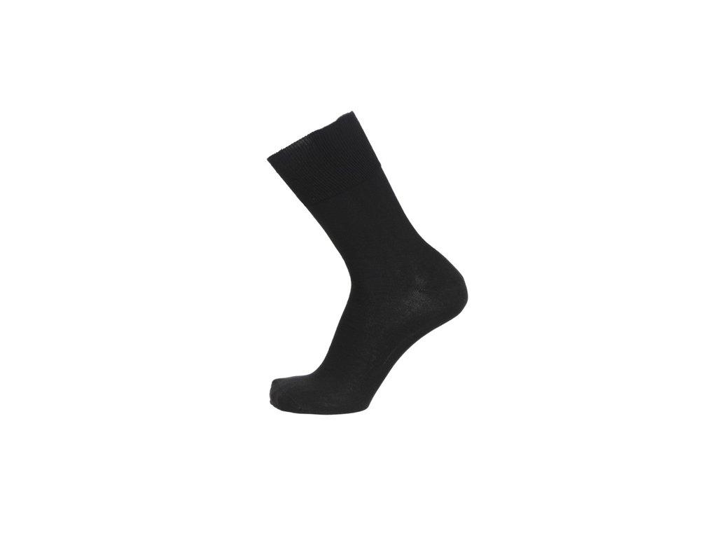 Ponožky se stříbrem BIO COTTON černé (Velikost S 4-5 (37-38))