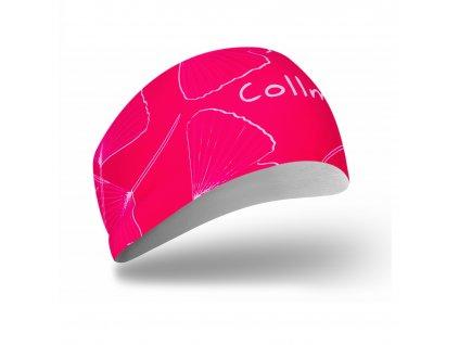 športová ružová čelenka