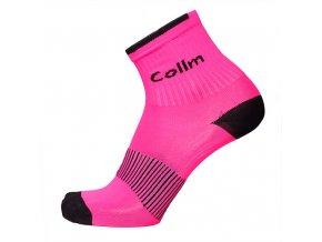 Reflexní ponožky SPORT RŮŽOVÉ (Velikost S 4-5 (37-38))