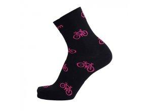 ponožky na kolo růžové