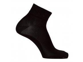 Bambusové ponožky nízké - balení 3páry černé (Velikost 24 - 25 cm (37-39))