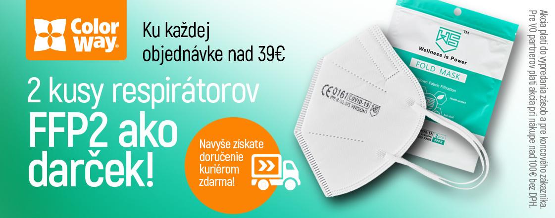 FFP2 respirátor - 2ks ku kazdej objednavke nad 39€ ako darcek