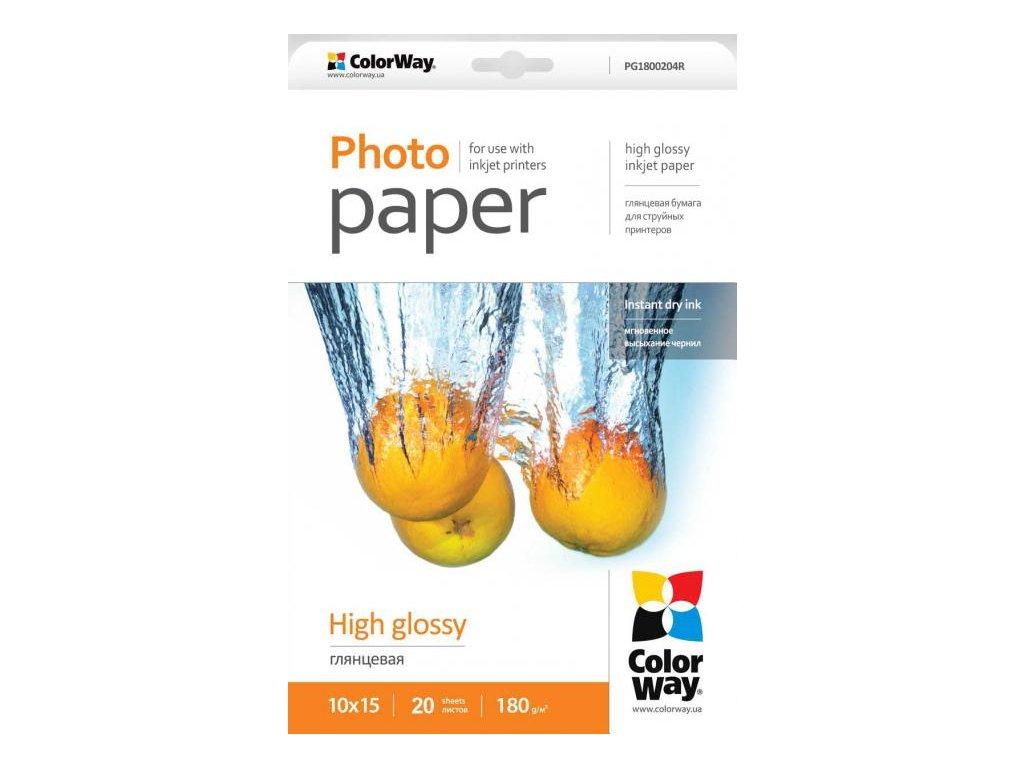 Fotopapier CW Vysoko lesklý 180g/m²,20ks,10x15