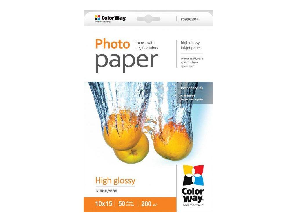 Fotopapier CW Vysoko lesklý 200g/m²,50ks,10x15
