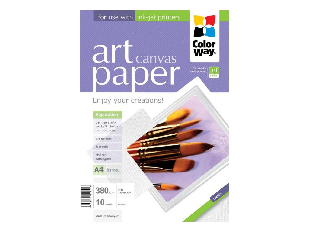 Fotopapier CW ART Cotton Canvas (foto plátno) 380g/m²,10ks,A3+