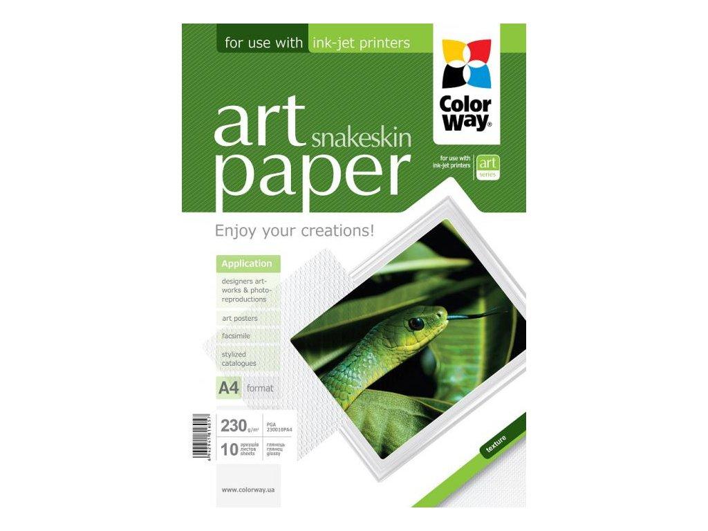 "Fotopapier CW ART Lesklý ""Snakeskin"" 230g/m²,10ks,A4"
