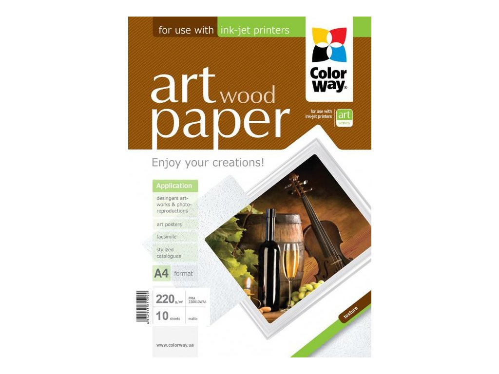 """Fotopapier CW ART Matný """"Wood"""" 220g/m²,10ks,A4"""