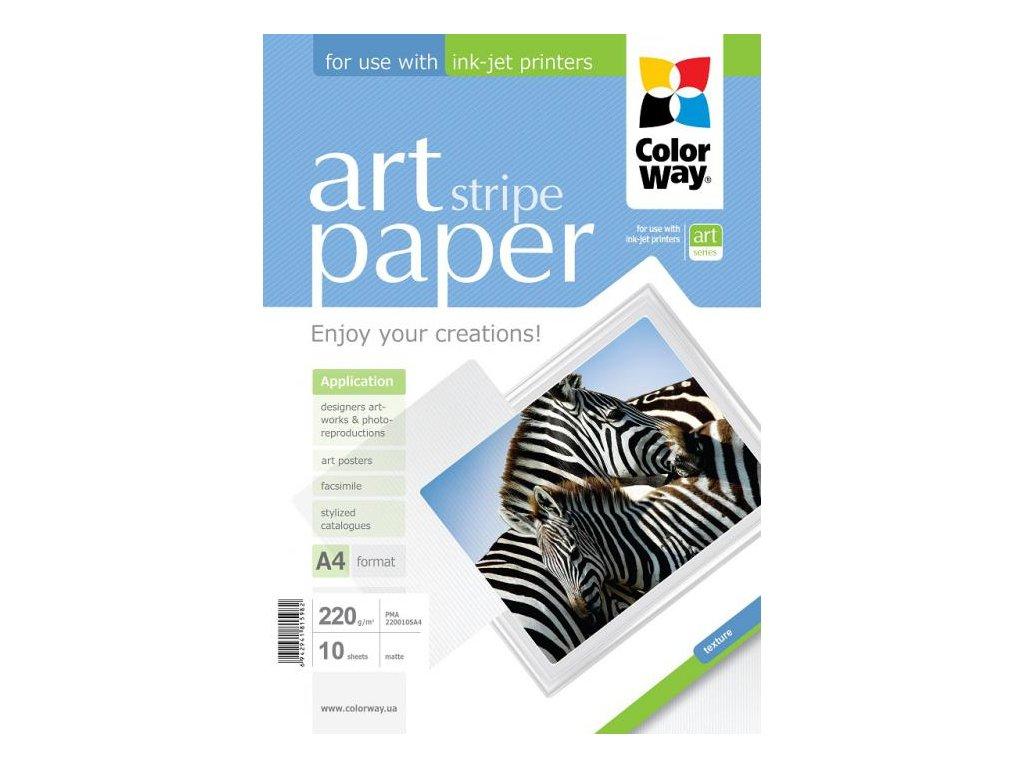 "Fotopapier CW ART Matný ""Stripe"" 220g/m²,10ks,A4"
