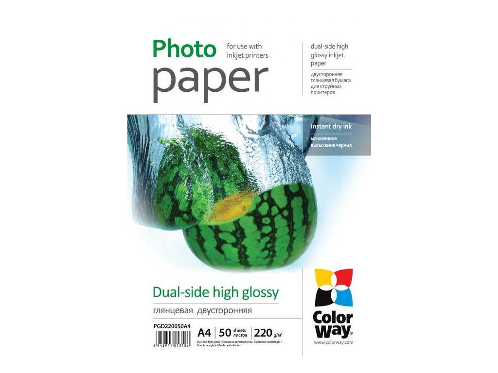 Fotopapier CW Vysoko lesklý obojstranný 220g/m²,50ks,A4