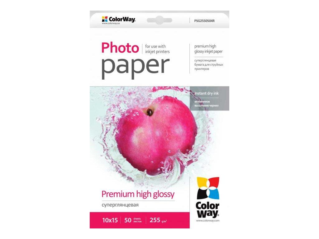 Fotopapier CW Super lesklý mikroporézny 255g/m²,50ks,10x15