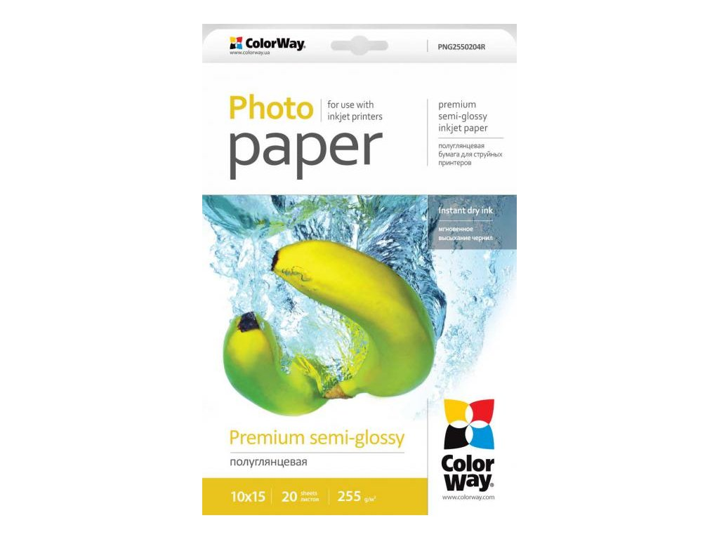 Fotopapier CW Super pololesklý mikroporézny 255g/m²,20ks,10x15