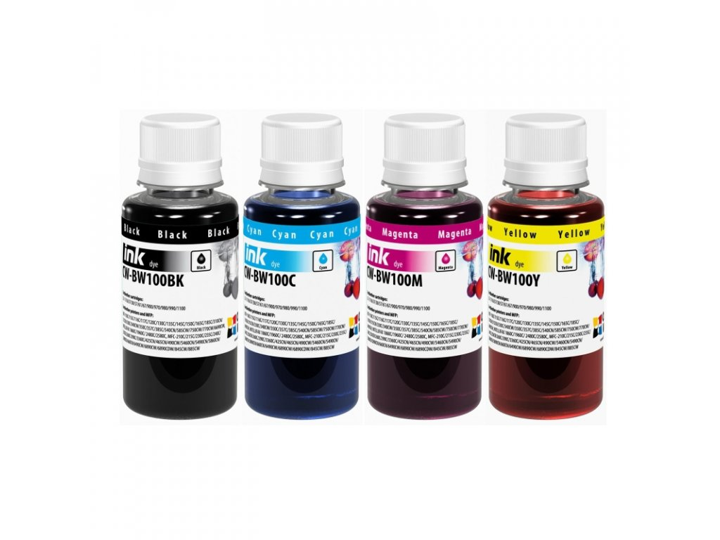 Atrament BROTHER multipack 4x100ml - dyebased