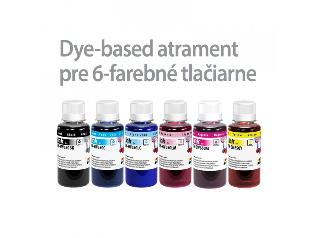 Atrament EPSON 6x100ml - dyebased