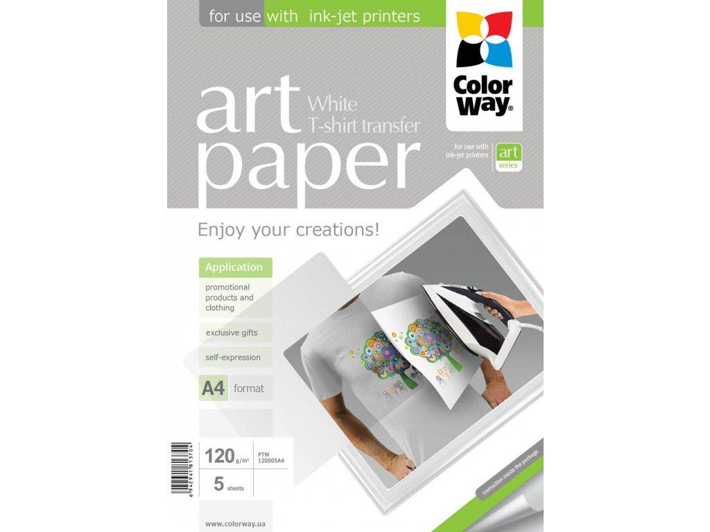 Nažehľovací papier CW na svetlý textil 120g/m²,A4,5ks