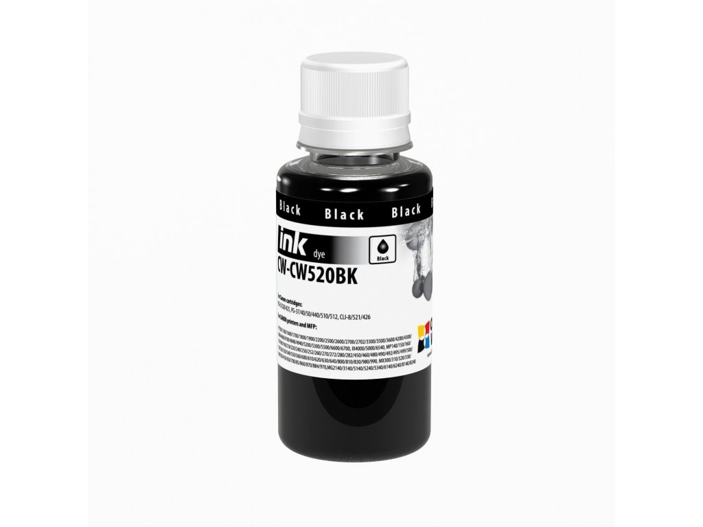 Atrament Canon black (dye) - 100ml/200ml