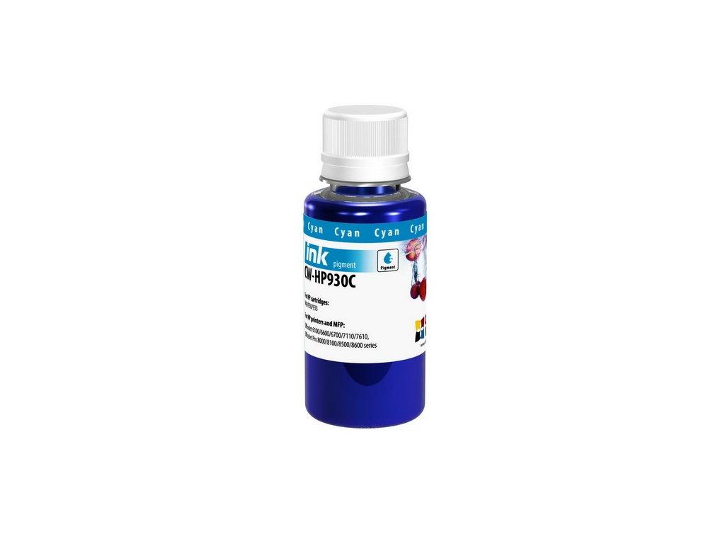 Atrament ColorWay pre HP 933/951 cyan - 100ml (po expirácii)