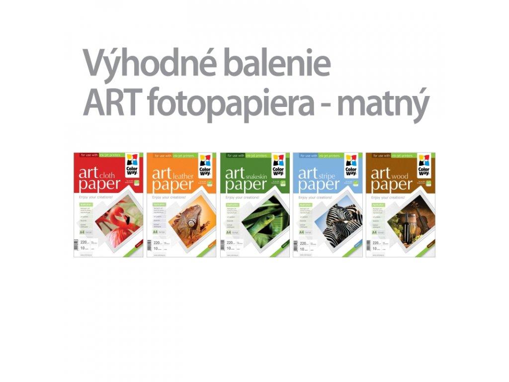 Fotopapier CW ART 220g/m²,matný,10ks,A4 - 5pack