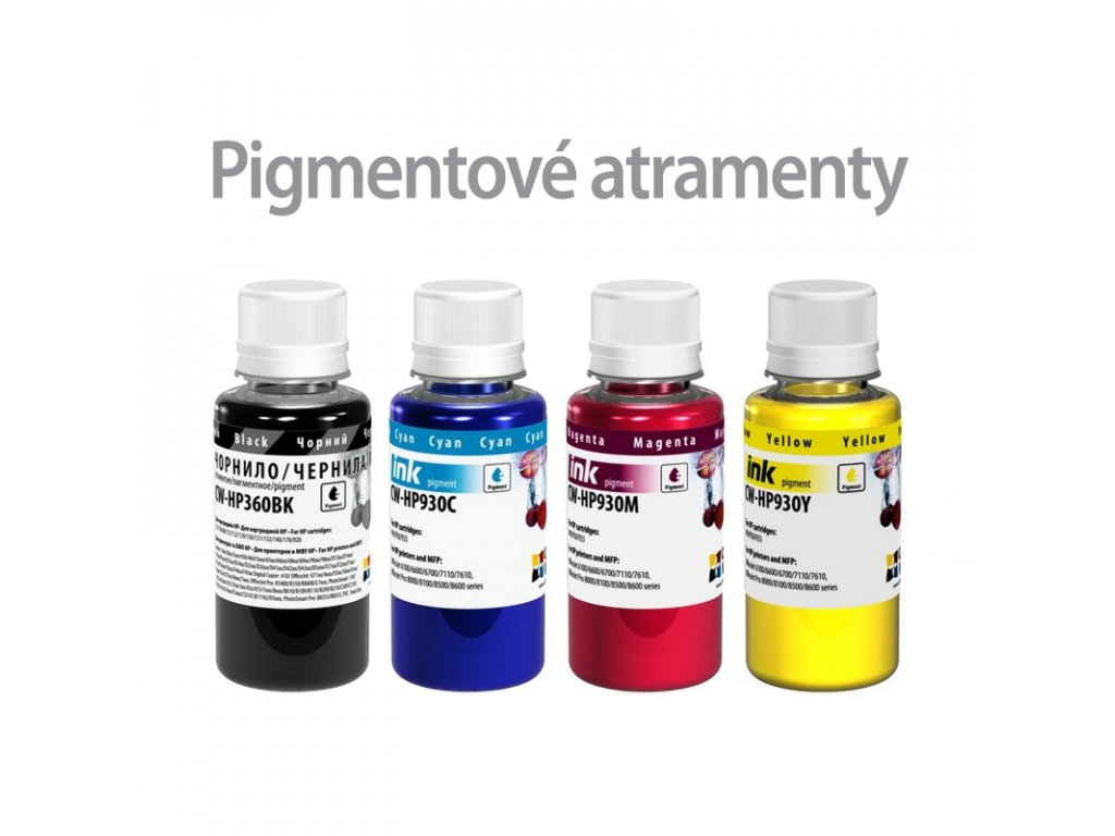 Atrament HP multipack 4x100ml - pigment (po expirácii)