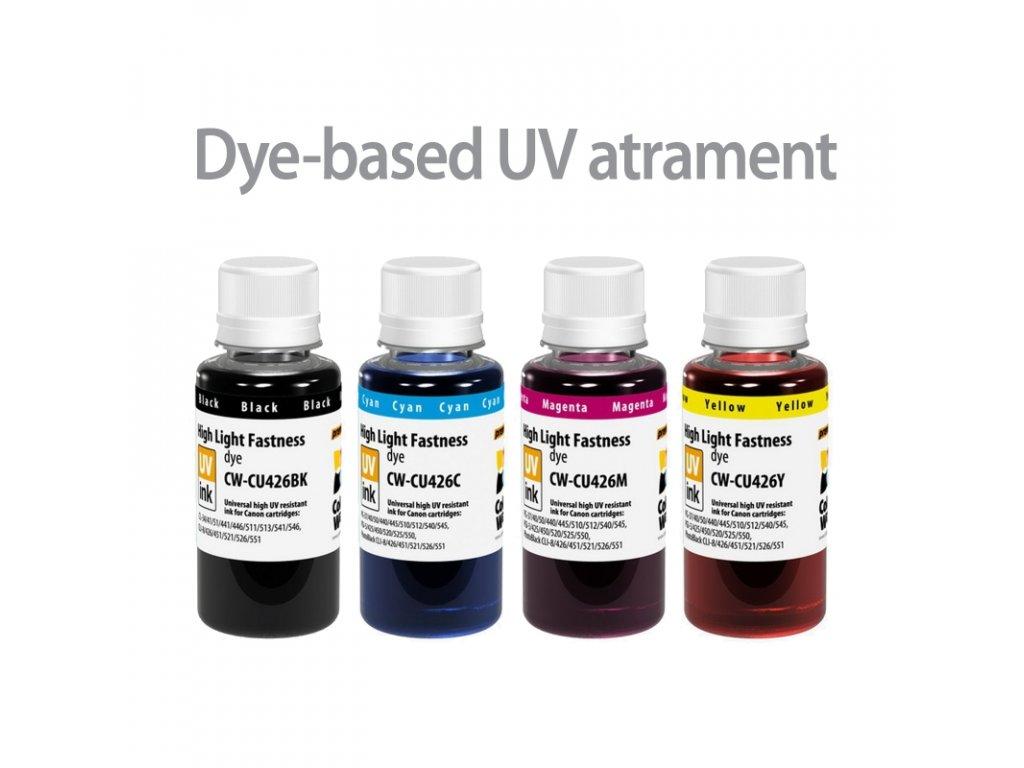 Atrament CANON multipack 4x100ml - UV odolné