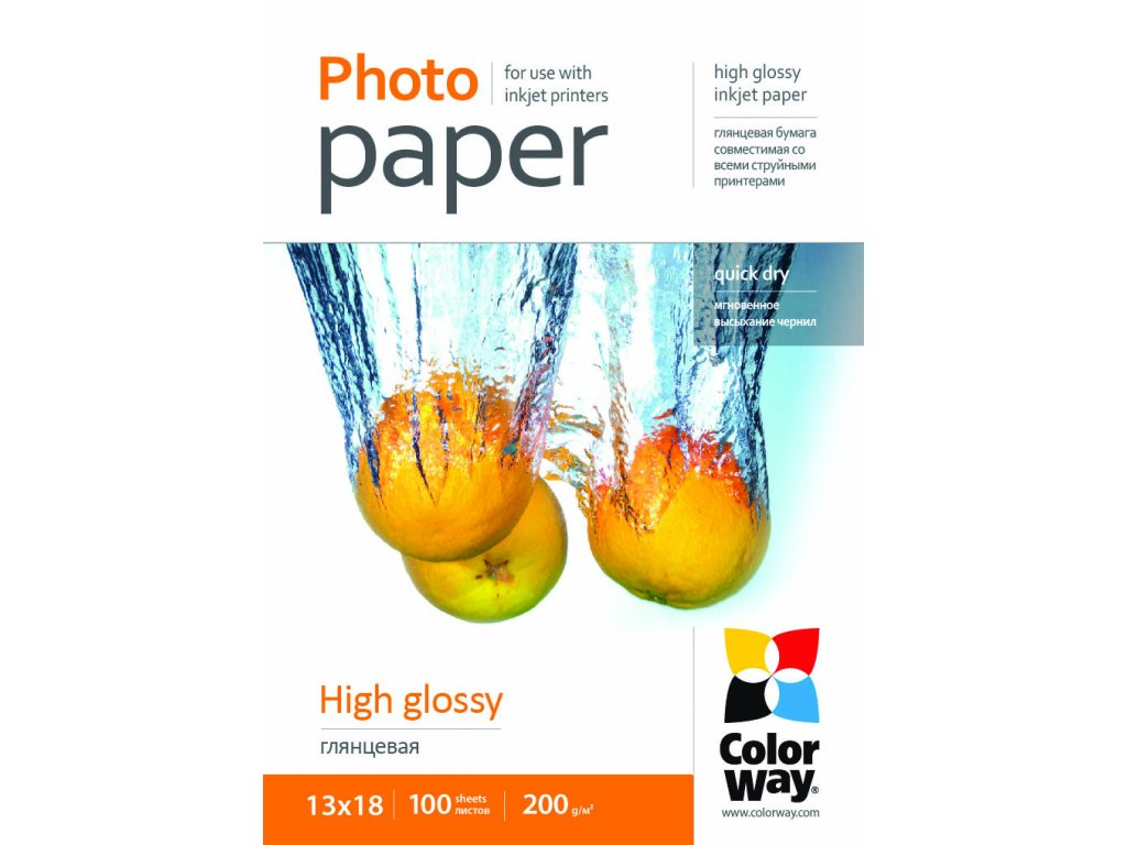 Fotopapier CW Vysoko lesklý 200g/m²,100ks,13x18