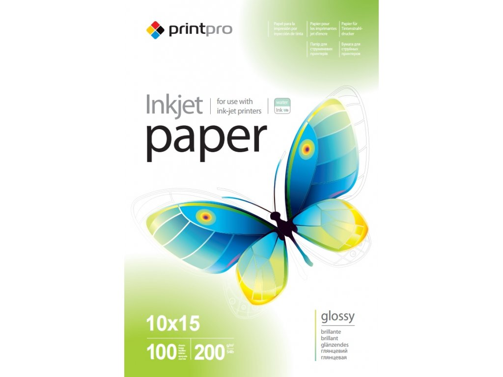 Fotopapier PP Vysoko lesklý 200g/m²,100ks,10x15